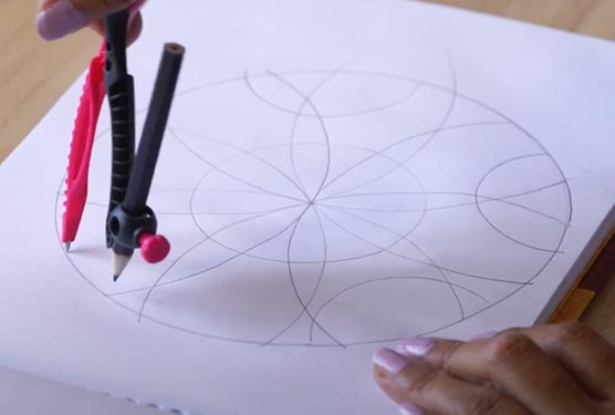 Creación y coloreado de mandalas