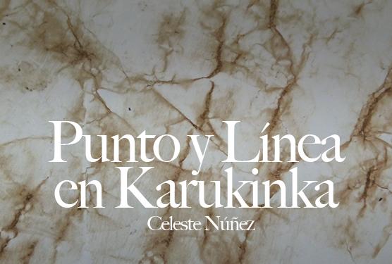 Punto y línea en karukinka